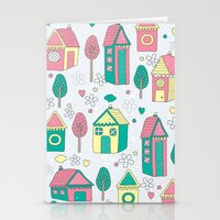 home sweet home Stationery Cards featuring Home by One April