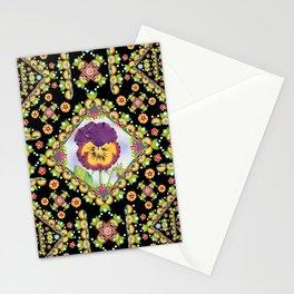Purple Pansy Portrait Stationery Cards
