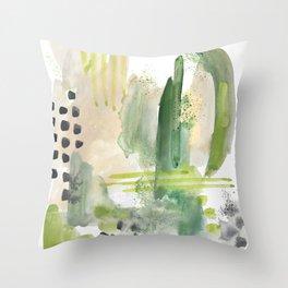 Mossy Design Throw Pillow