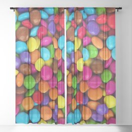 Candy Coated Chocolate Sheer Curtain
