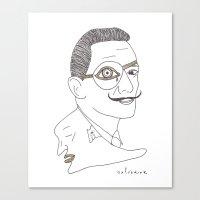 salvador dali Canvas Prints featuring Salvador Dali by Grace Ban
