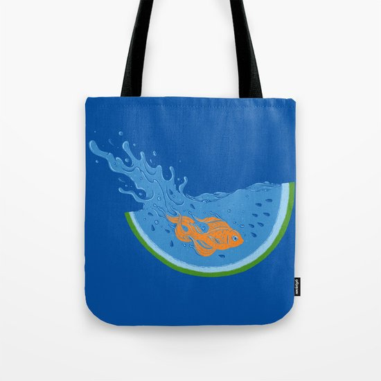 Watermelon Dive Tote Bag