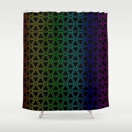 Rainbow Triangularity Shower Curtain