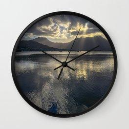 Dusk over Kaneohe Bay Wall Clock