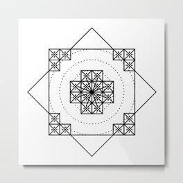 nazca mandala Metal Print