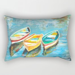 Three Little Boats Rectangular Pillow