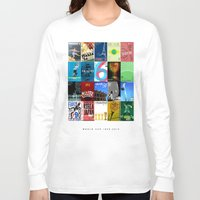 world cup Long Sleeve T-shirts featuring World Cup: 1930-2014 by James Campbell Taylor