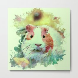 Painterly Animal - Guinea Pig 2 Metal Print