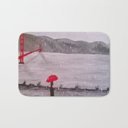 RED AND BLACK Bath Mat