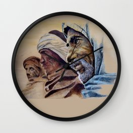 FREE SPIRITS - sunny version Wall Clock