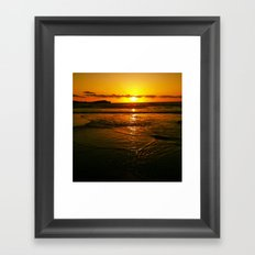 Good Night Wishes From The Warming Sun  Framed Art Print