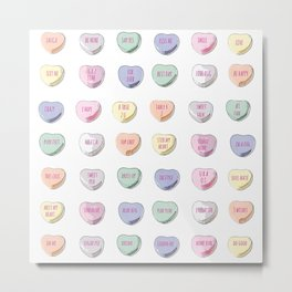 Candy Hearts Metal Print
