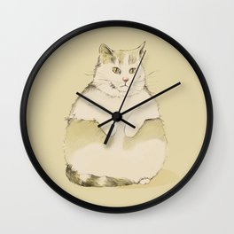Coco the Fat Cat Wall Clock
