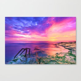 Sunset in Paradise (Color) Canvas Print