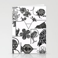 letters Stationery Cards featuring Letters by Isabella Polly