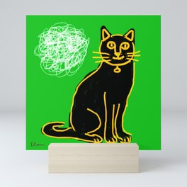 Cat's mind (signed) Mini Art Print