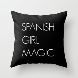 Spanish Girl Magic Spanish Woman Girl Throw Pillow