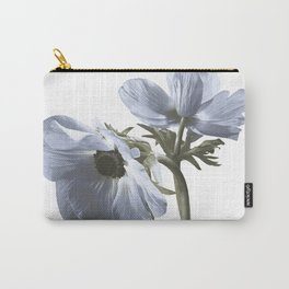 Single flower print - Blue Poppy Carry-All Pouch