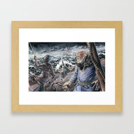 Those Are Not Mountains Framed Art Print