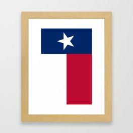 State flag of Texas, banner version Framed Art Print