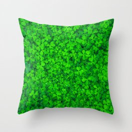 Clover Leaf Shamrocks Throw Pillow