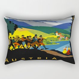 Austria - Vintage Travel Ad Rectangular Pillow