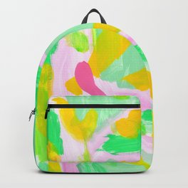 Watermelon Day - Lime Green Mint Colorful Abstract Modern Backpack