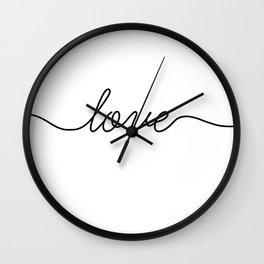 Peace love joy (2 of 3) Wall Clock