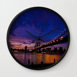 The Night just coming - NYC Wall Clock