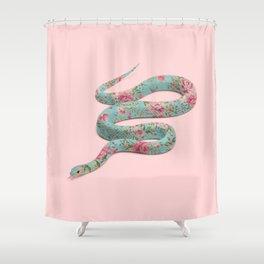 FLORAL SNAKE Shower Curtain