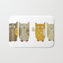4 Gold Owls Bath Mat