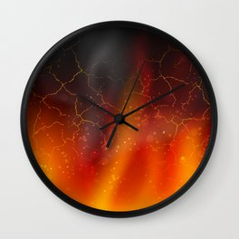 fire on a black background dark decoration Wall Clock