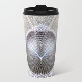 Peacock Feather Symmetry iii Travel Mug