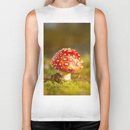 Red Amanita Mushroom - #decor #society6 #buyart Biker Tank