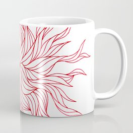 Red seaweed design Coffee Mug