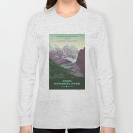 Yoho National Park Poster Long Sleeve T-shirt
