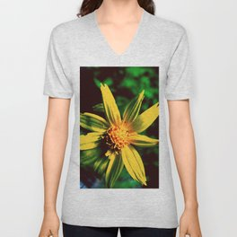 Vintage Yellow Flower Unisex V-Neck