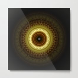 Mandala Place of Silence Metal Print