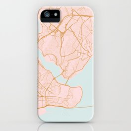 Istanbul map, Turkey iPhone Case
