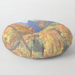 Aspen in the Uncompahgre Range, Colorado Floor Pillow