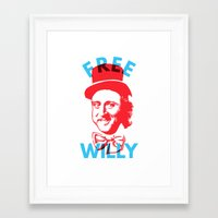 willy wonka Framed Art Prints featuring Free Willy (Wonka) by Tabner's