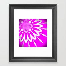 Glowing Hot Pink Modern Flower Framed Art Print