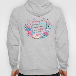 Reading can take you places Hoody