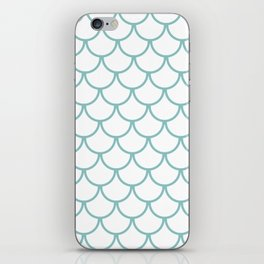 Chalky Blue Fish Scales Pattern iPhone Skin
