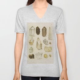 Quartz Crystals Unisex V-Neck