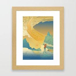 Golden Staircase Framed Art Print
