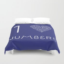 I heart Numbers Duvet Cover
