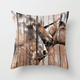 Run With the Horses Throw Pillow