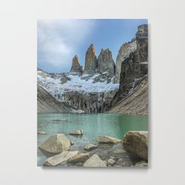 The Base of the Towers | Torres del Paine National Park, Patagonia Metal Print
