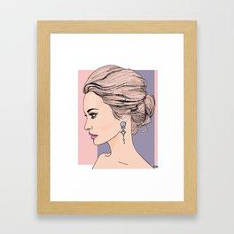 Royal messy bun Framed Art Print